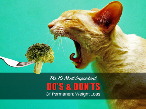 The Top 10 Do's & Don'ts of Losing Weight